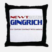 Newt Gingrich President 2012 Throw Pillow