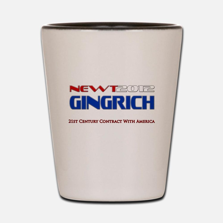 Newt Gingrich President 2012 Shot Glass