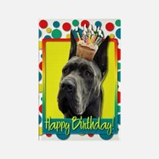 Birthday Cupcake - Great Dane Rectangle Magnet