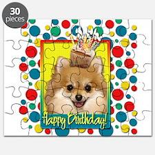 Birthday Cupcake - Pom Puzzle