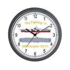 USS Interpid CV-11 Wall Clock