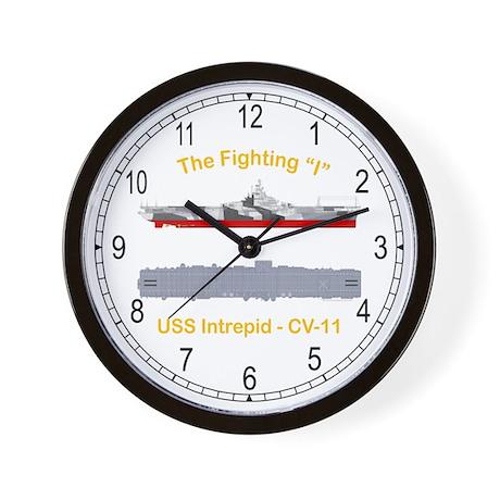 USS Interpid CV-11 Wall Clock