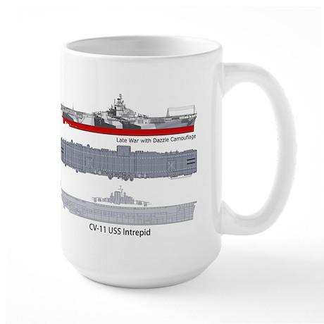 USS Intrepid CV-11 CVA-11 CVS-11 Large Mug