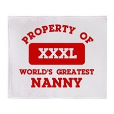 Property of Nanny Throw Blanket