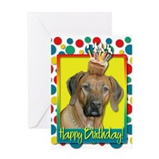 Birthday Cupcake - Ridgeback Greeting Card
