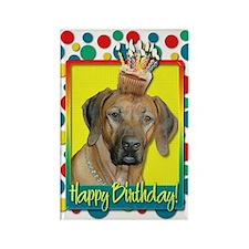 Birthday Cupcake - Ridgeback Rectangle Magnet
