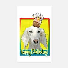 Birthday Cupcake - Saluki Decal