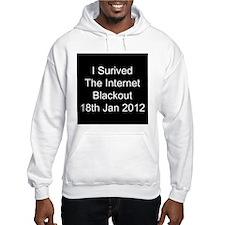 I Survived Internet Blackout 2012 Hoodie