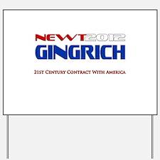 Newt Gingrich President 2012 Yard Sign