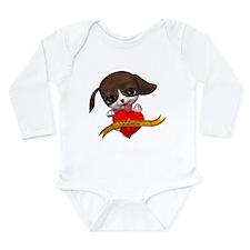 Valentine Puppy Long Sleeve Infant Bodysuit