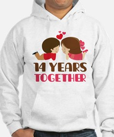 14 Years Together Anniversary Hoodie