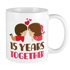 15 Years Together Anniversary Small Mugs