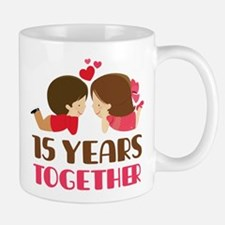 15 Years Together Anniversary Small Small Mug
