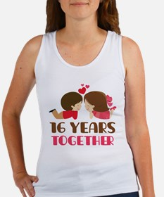 16 Years Together Anniversary Women's Tank Top