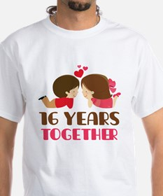 16 Years Together Anniversary Shirt