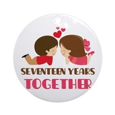 17 Years Together Anniversary Ornament (Round)
