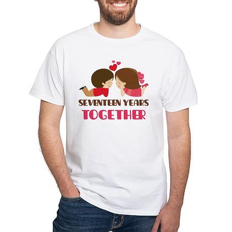 17 Years Together Anniversary White T-Shirt