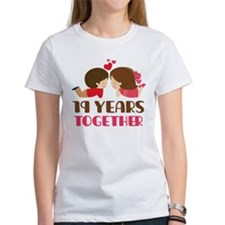 19 Years Together Anniversary Tee