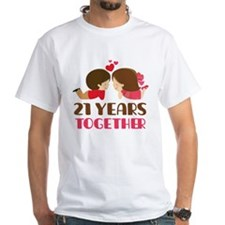 21 Years Together Anniversary Shirt