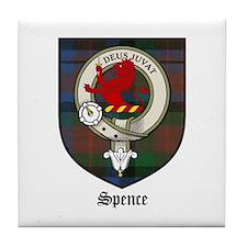 Spence Clan Crest Tartan Tile Coaster