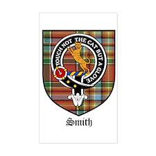 Smith Clan Crest Tartan Rectangle Decal