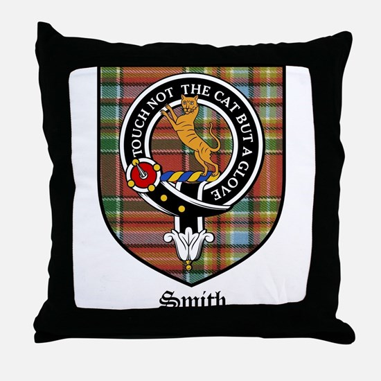 Smith Clan Crest Tartan Throw Pillow