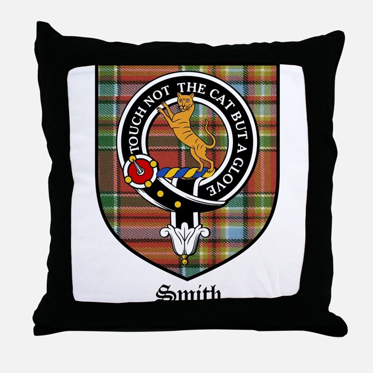 Smith Clan Crest Tartan Throw Pillow