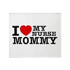 I love My Nurse Mommy Throw Blanket