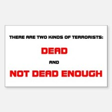 Kinds of Terrorists Rectangle Decal