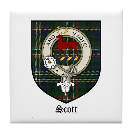 Scott Clan Crest Tartan Tile Coaster