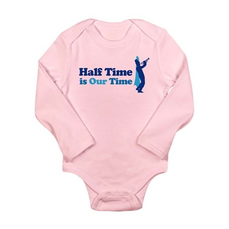 Band Half Time Long Sleeve Infant Bodysuit