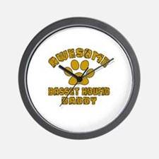 Awesome Basset Hound Daddy Wall Clock