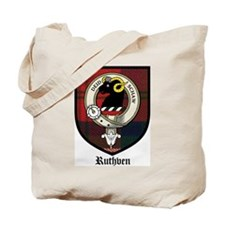 Ruthven Clan Crest Tartan Tote Bag