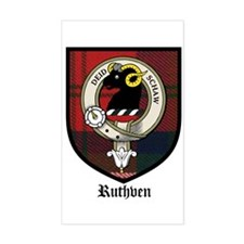 Ruthven Clan Crest Tartan Rectangle Decal