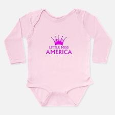 Little Miss America Long Sleeve Infant Bodysuit
