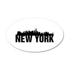 New York City 22x14 Oval Wall Peel