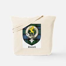 Russell Clan Crest Tartan Tote Bag