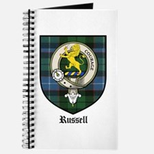 Russell Clan Crest Tartan Journal
