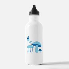 Blue Mushrooms Water Bottle