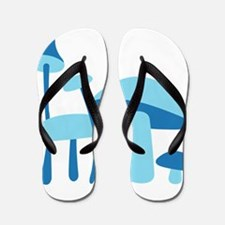 Blue Mushrooms Flip Flops