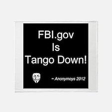 FBI.gov Is Tango Down - Anony Throw Blanket