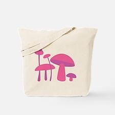 Pink Mushrooms Tote Bag