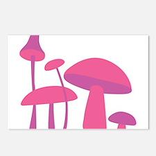 Pink Mushrooms Postcards (Package of 8)