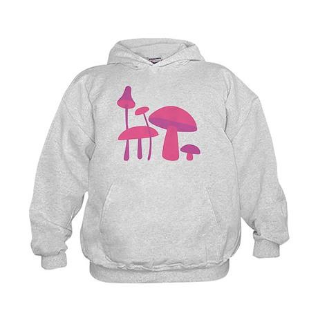 Pink Mushrooms Kids Hoodie