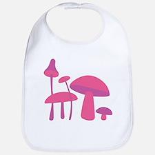 Pink Mushrooms Bib