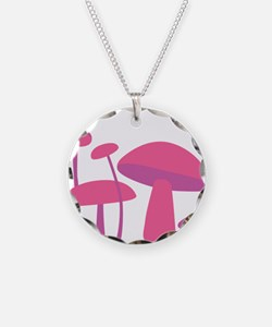Pink Mushrooms Necklace