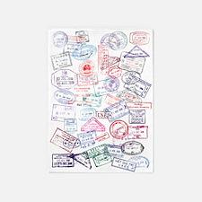 Stamp Rug passport stamp rugs, passport stamp area rugs | indoor/outdoor rugs