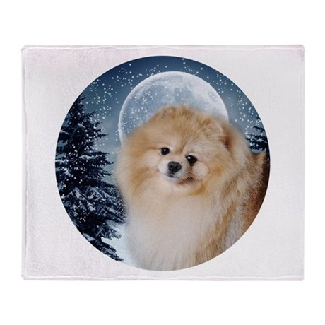Pomeranian Throw Blanket