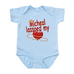 Micheal Lassoed My Heart Infant Bodysuit