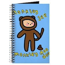 Cute Monkey Doodoo Journal